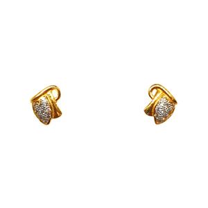 22k gold modern earrings mga - btg0376