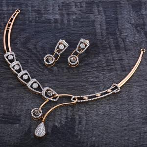 750 rose gold hallmark women's necklace set r
