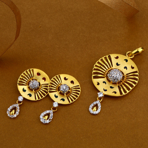 22kt gold exclusive hallmark pendant set fsp4