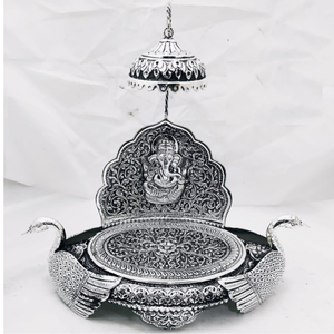 925 pure silver  antique singhasan po-141-23
