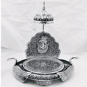 925 pure silver  antique singhasan po-141-23