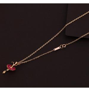 18kt rose gold  delicate ladies tanmaniya nec