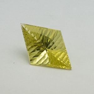 16.320ct rectangle yellow quartz