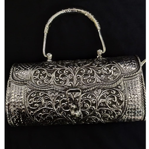 925 pure silver ladies stylish purse in deep