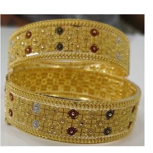 916 gold antique designer calcutta bangles