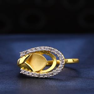 916 gold cz  hallmark women's ring lr582