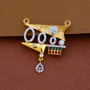 916 gold cz designer mangalsutra pendant mp75