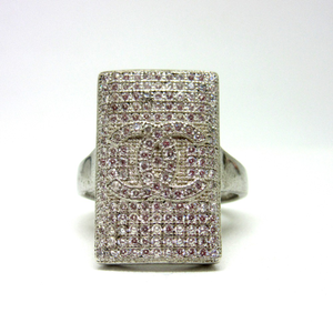 925 silver chanel logo ring for gents sr925-1