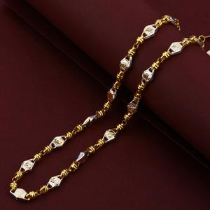 Turkey 916 plain rodium gold mens fancy chain