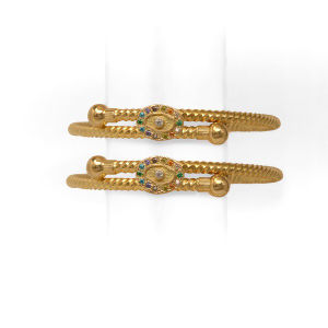 22 carat gold copper bachha kadli
