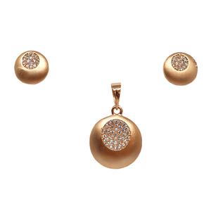 925 rose silver round shaped designer pendant