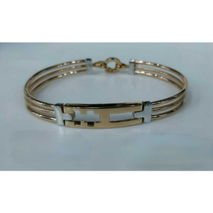 18k gens fancy rose gold kada g-4302