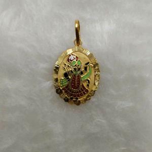 916 gold shrinathji minakari pendant