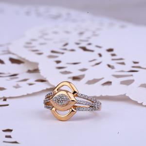 Rose gold cz 18k ladies ring-rlr336