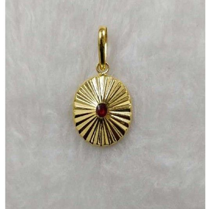 916 gold red stone brahmakumari pendant