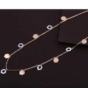 18kt rose gold cz fancy necklace tanmaniya rt