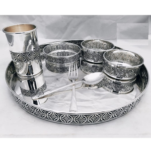 925 pure silver dinner set in stylish antique