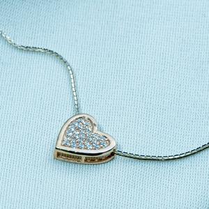 925 silver heart design pendant chain dk1-237