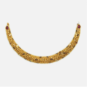 916 gold antique necklace rhj-4136