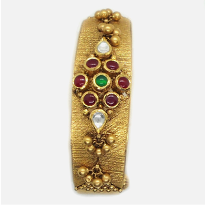 22k gold antique bridal kada bangle rhj-4981