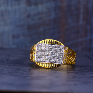 Mens gold ring-mr424