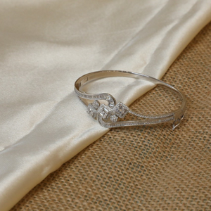 92.5 sterling silver cz choki stone ring for