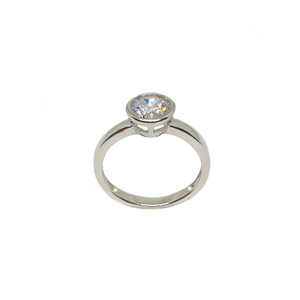 925 sterling silver solitaire diamond ring mg
