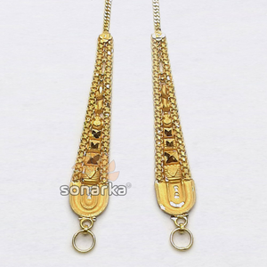 Gold earchain sk - k035