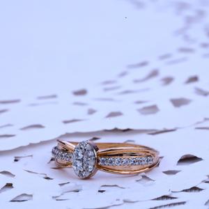 Rose gold ring-rlr250