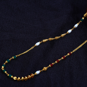 Ladies 22k designer gold moti chainmala-ac80
