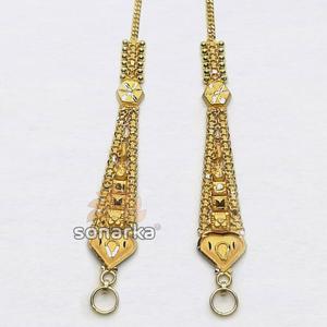 Gold earchain sk - k011