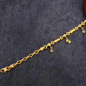 916 gold classic plain bracelet lpbr60
