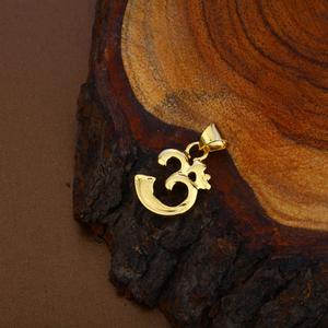 Om gold hollow pendant-hlp96