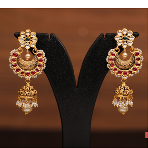 22k jadtar earrings