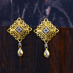 916 gold fancy earrings lfe307