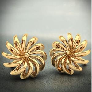 22 kt 916 gold casting earring