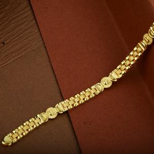 Mens 22k gold designer plain cz cartier brace