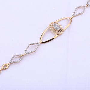 Ladies bracelet rosegold 18ct