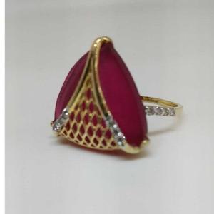 Real diamond red stone branded ladies ring