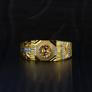 Men's exclusive 22k plain casting gold ring-