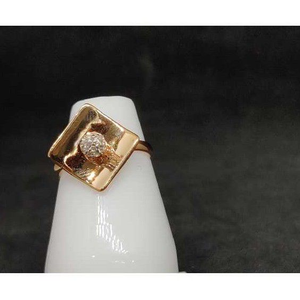 18k ladies rose gold ring