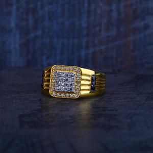 Mens 22k gold cz ring-mr296