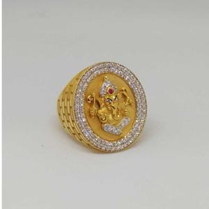 22 kt gold gents branded ring
