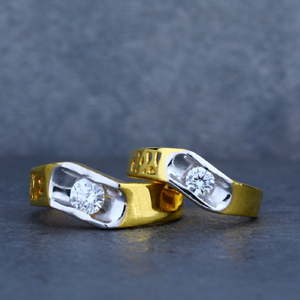 Exclusive 916 love gold couple ring-cr21