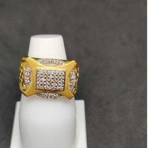 916 men's fancy gold ring