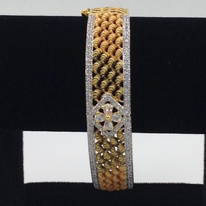 White cz openable kada braceletjbg0026