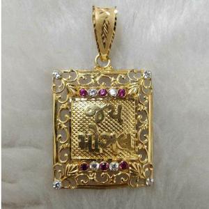 916 gold handmade mogal maa pendant
