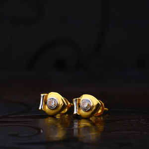 916 gold exclusive earring with solitare lse1