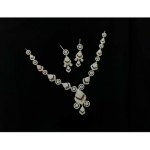 92.5 sterling silver fancy necklace set ms-39