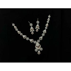 92.5 sterling silver fancy necklace set ms-39